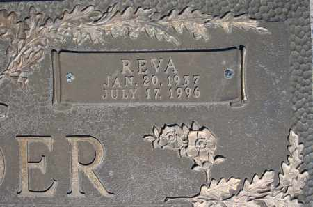 BORDER, REVA  (CLOSE UP) - Faulkner County, Arkansas | REVA  (CLOSE UP) BORDER - Arkansas Gravestone Photos