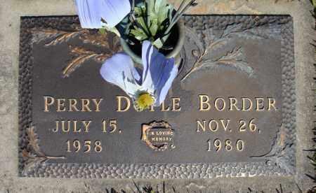 BORDER, PERRY DOYLE - Faulkner County, Arkansas | PERRY DOYLE BORDER - Arkansas Gravestone Photos