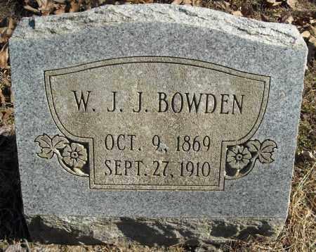 BOWDEN, W.J.J. - Faulkner County, Arkansas | W.J.J. BOWDEN - Arkansas Gravestone Photos