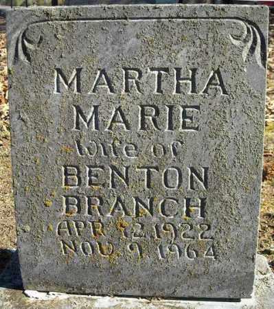 BRANCH, MARTHA MARIE - Faulkner County, Arkansas | MARTHA MARIE BRANCH - Arkansas Gravestone Photos