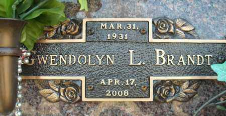 BRANDT, GWENDOLYN L. - Faulkner County, Arkansas | GWENDOLYN L. BRANDT - Arkansas Gravestone Photos