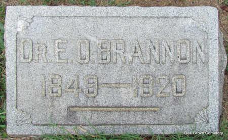 BRANNON, DR., EDMOND.O. - Faulkner County, Arkansas | EDMOND.O. BRANNON, DR. - Arkansas Gravestone Photos