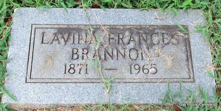 BRANNON, LAVINA FRANCES - Faulkner County, Arkansas | LAVINA FRANCES BRANNON - Arkansas Gravestone Photos
