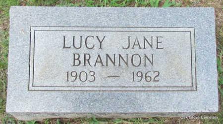 BRANNON, LUCY JANE - Faulkner County, Arkansas | LUCY JANE BRANNON - Arkansas Gravestone Photos