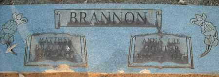 BRANNON, MATTHEW - Faulkner County, Arkansas | MATTHEW BRANNON - Arkansas Gravestone Photos