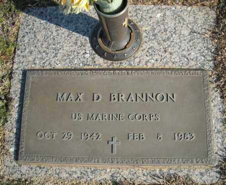 BRANNON (VETERAN), MAX D - Faulkner County, Arkansas | MAX D BRANNON (VETERAN) - Arkansas Gravestone Photos