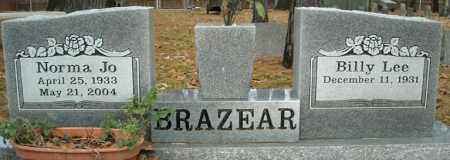 BRAZEAR, NORMA JO - Faulkner County, Arkansas | NORMA JO BRAZEAR - Arkansas Gravestone Photos