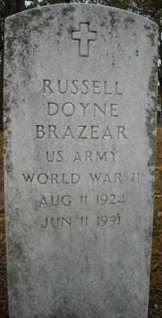 BRAZEAR (VETERAN WWII), RUSSELL DOYNE - Faulkner County, Arkansas | RUSSELL DOYNE BRAZEAR (VETERAN WWII) - Arkansas Gravestone Photos