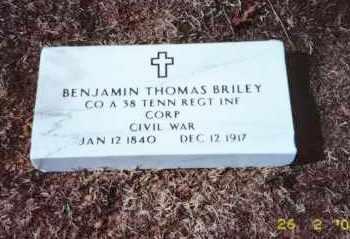 BRILEY  (VETERAN CONFEDERATE), BENJAMIN THOMAS - Faulkner County, Arkansas   BENJAMIN THOMAS BRILEY  (VETERAN CONFEDERATE) - Arkansas Gravestone Photos
