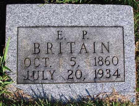 BRITAIN, E. P. - Faulkner County, Arkansas | E. P. BRITAIN - Arkansas Gravestone Photos