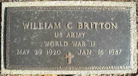 BRITTON (VETERAN WWII), WILLIAM C - Faulkner County, Arkansas | WILLIAM C BRITTON (VETERAN WWII) - Arkansas Gravestone Photos