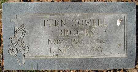 SOWELL BROOKS, FERN - Faulkner County, Arkansas | FERN SOWELL BROOKS - Arkansas Gravestone Photos