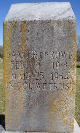 BROWN, BAXTER - Faulkner County, Arkansas   BAXTER BROWN - Arkansas Gravestone Photos