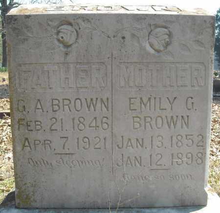 BROWN, G.A. - Faulkner County, Arkansas | G.A. BROWN - Arkansas Gravestone Photos