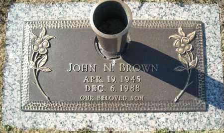 BROWN, JOHN N. - Faulkner County, Arkansas | JOHN N. BROWN - Arkansas Gravestone Photos