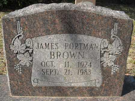 BROWN, JAMES PORTMAN - Faulkner County, Arkansas | JAMES PORTMAN BROWN - Arkansas Gravestone Photos