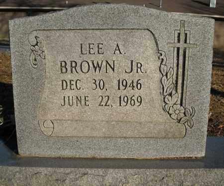 BROWN, JR., LEE A. - Faulkner County, Arkansas | LEE A. BROWN, JR. - Arkansas Gravestone Photos