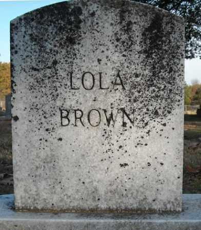 BROWN, LOLA - Faulkner County, Arkansas | LOLA BROWN - Arkansas Gravestone Photos