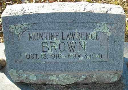 LAWRENCE BROWN, MONTINE - Faulkner County, Arkansas | MONTINE LAWRENCE BROWN - Arkansas Gravestone Photos