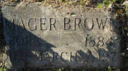 BROWN, MAGER - Faulkner County, Arkansas | MAGER BROWN - Arkansas Gravestone Photos