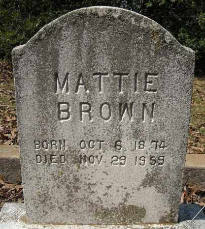 BROWN, MATTIE - Faulkner County, Arkansas | MATTIE BROWN - Arkansas Gravestone Photos