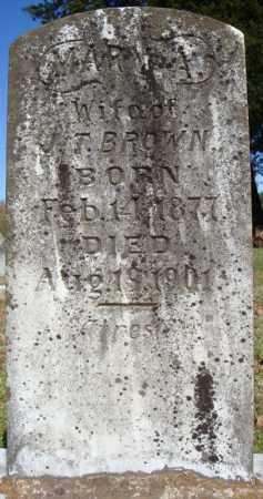 BROWN, MARY A. - Faulkner County, Arkansas | MARY A. BROWN - Arkansas Gravestone Photos