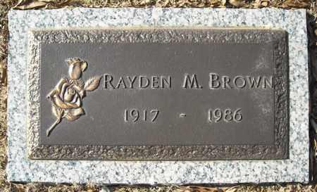 BROWN, RAYDEN M. - Faulkner County, Arkansas   RAYDEN M. BROWN - Arkansas Gravestone Photos