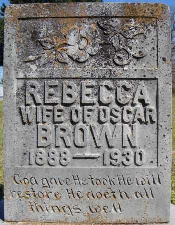 BROWN, REBECCA - Faulkner County, Arkansas | REBECCA BROWN - Arkansas Gravestone Photos