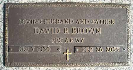 BROWN (VETERAN), DAVID R - Faulkner County, Arkansas | DAVID R BROWN (VETERAN) - Arkansas Gravestone Photos