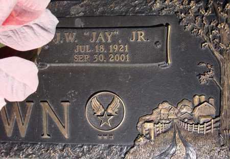 "BROWN, JR (VETERAN WWII), J W ""JAY"" - Faulkner County, Arkansas | J W ""JAY"" BROWN, JR (VETERAN WWII) - Arkansas Gravestone Photos"