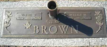 BROWN, MYRTLE M. - Faulkner County, Arkansas | MYRTLE M. BROWN - Arkansas Gravestone Photos