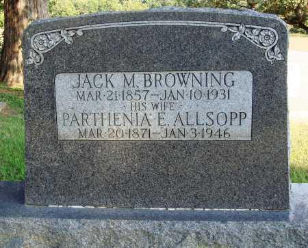 BROWNING, PARTHENIA E. - Faulkner County, Arkansas | PARTHENIA E. BROWNING - Arkansas Gravestone Photos