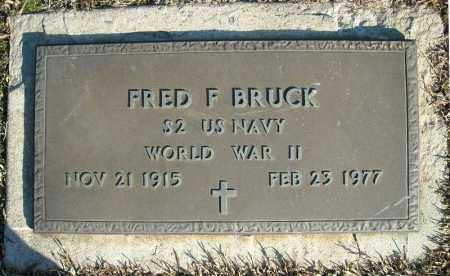 BRUCK (VETERAN WWII), FRED F - Faulkner County, Arkansas | FRED F BRUCK (VETERAN WWII) - Arkansas Gravestone Photos