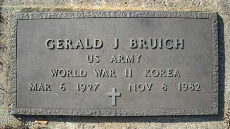 BRUICH (VETERAN 2 WARS), GERALD J - Faulkner County, Arkansas   GERALD J BRUICH (VETERAN 2 WARS) - Arkansas Gravestone Photos