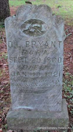 BRYANT, DAVID L. - Faulkner County, Arkansas   DAVID L. BRYANT - Arkansas Gravestone Photos