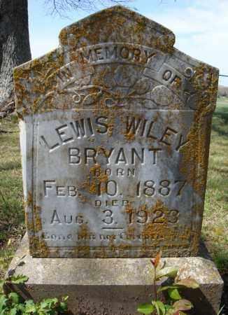 BRYANT, LEWIS WILEY - Faulkner County, Arkansas | LEWIS WILEY BRYANT - Arkansas Gravestone Photos