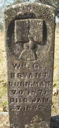 BRYANT, WILLIAM G. - Faulkner County, Arkansas   WILLIAM G. BRYANT - Arkansas Gravestone Photos