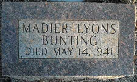 LYONS BUNTING, MADIER - Faulkner County, Arkansas | MADIER LYONS BUNTING - Arkansas Gravestone Photos