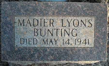 BUNTING, MADIER - Faulkner County, Arkansas | MADIER BUNTING - Arkansas Gravestone Photos