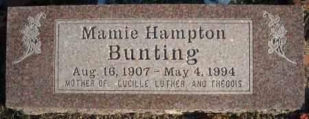 HAMPTON BUNTING, MAMIE - Faulkner County, Arkansas | MAMIE HAMPTON BUNTING - Arkansas Gravestone Photos