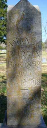 BURGIN, AMANDA - Faulkner County, Arkansas | AMANDA BURGIN - Arkansas Gravestone Photos