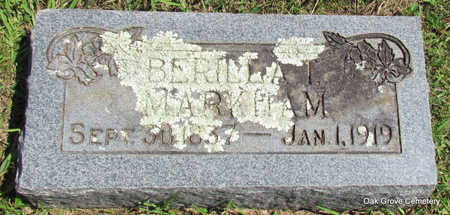 MARKHAM, BERILLA T. - Faulkner County, Arkansas | BERILLA T. MARKHAM - Arkansas Gravestone Photos