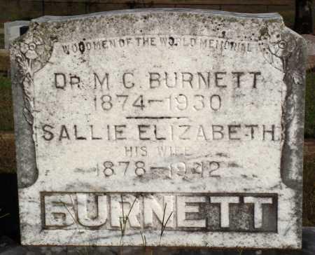 BURNETT, SALLIE ELIZABETH - Faulkner County, Arkansas | SALLIE ELIZABETH BURNETT - Arkansas Gravestone Photos