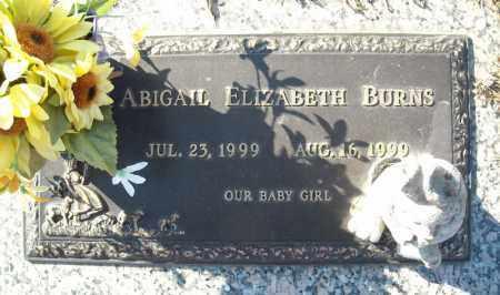 BURNS, ABIGAIL ELIZABETH - Faulkner County, Arkansas   ABIGAIL ELIZABETH BURNS - Arkansas Gravestone Photos