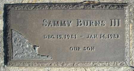 BURNS, III, SAMMY - Faulkner County, Arkansas | SAMMY BURNS, III - Arkansas Gravestone Photos
