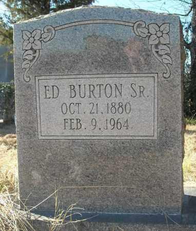 BURTON, SR., ED - Faulkner County, Arkansas   ED BURTON, SR. - Arkansas Gravestone Photos