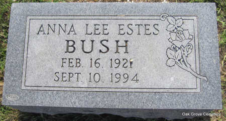 ESTES BUSH, ANNA LEE - Faulkner County, Arkansas   ANNA LEE ESTES BUSH - Arkansas Gravestone Photos