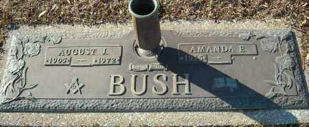 BUSH, AUGUST J. - Faulkner County, Arkansas | AUGUST J. BUSH - Arkansas Gravestone Photos