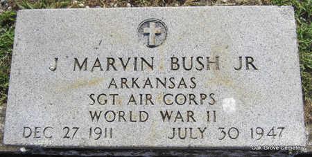 BUSH, JR  (VETERAN WWII), JOHN MARVIN - Faulkner County, Arkansas   JOHN MARVIN BUSH, JR  (VETERAN WWII) - Arkansas Gravestone Photos