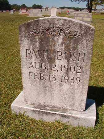 BUSH, PAUL - Faulkner County, Arkansas   PAUL BUSH - Arkansas Gravestone Photos